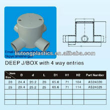 electrical pvc pipe ,Electrical Fitting PVC,Australia standards junction box