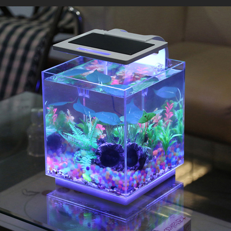 Acrylic fish tank aquarium with led aquarium light with for How to build an acrylic fish tank