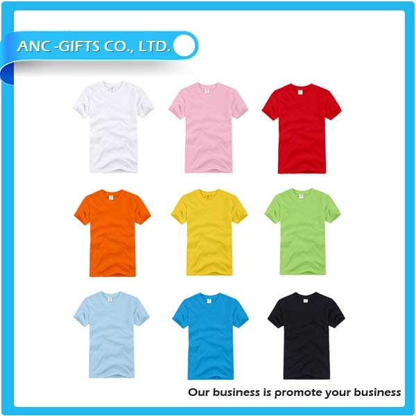 Cheap plain polyester t shirt with many color options wholesale blank cotton t-shirt for sublimation