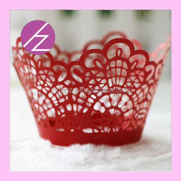 Wedding cake art paper craft cake paper cupcake wrapper laser cut cup cake wrapper baby party shower and giant cupcake box