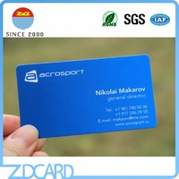 Cheap CMYK Pintging Glossy/Matte/Frosted Plastic Business Card