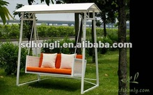 Outdoor rattan hanging sofa bed or luxury swing