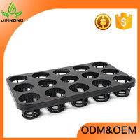 15 cells black plastic flower pot trays rectangular wholesale