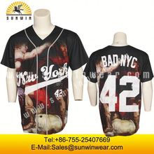 custom sublimation dye sub baseball shirts