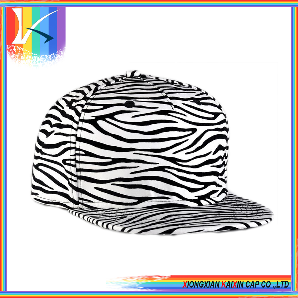 leopard bill baseball cap Leopard/Zebra/lion print custom caps and hats