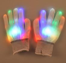 LED Gloves Finger Lights Toys with Lights 3 Colorful 6 Modes Rave Gloves For Party