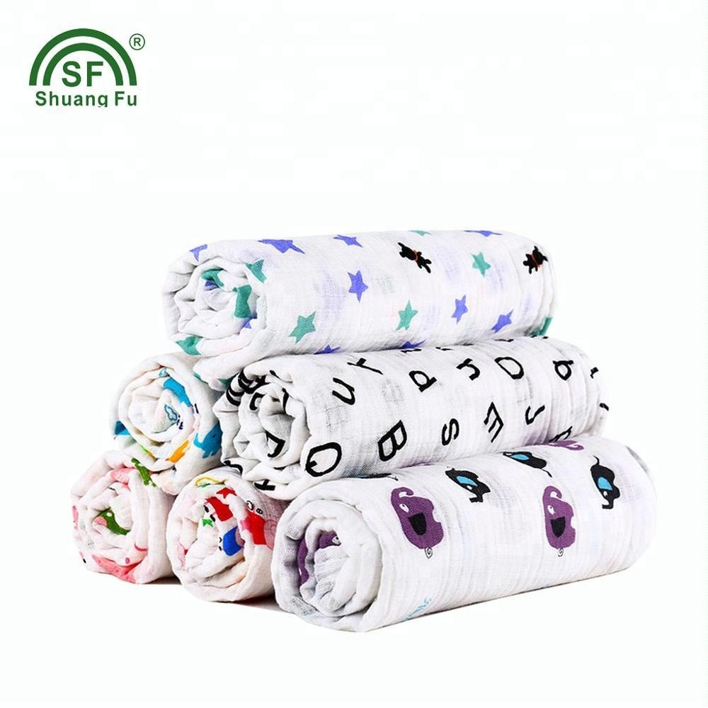 100%cotton custom printed muslin swaddle blanket for <strong>baby</strong>