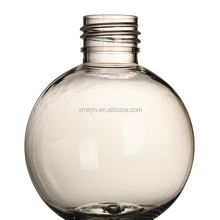 Hot sales weight empty shampoo spherical plastic bottle