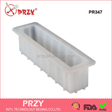 PR347 Easy unmold 12'' bar soap loaf mold,Tall and Skinny Silicone Soap Mold