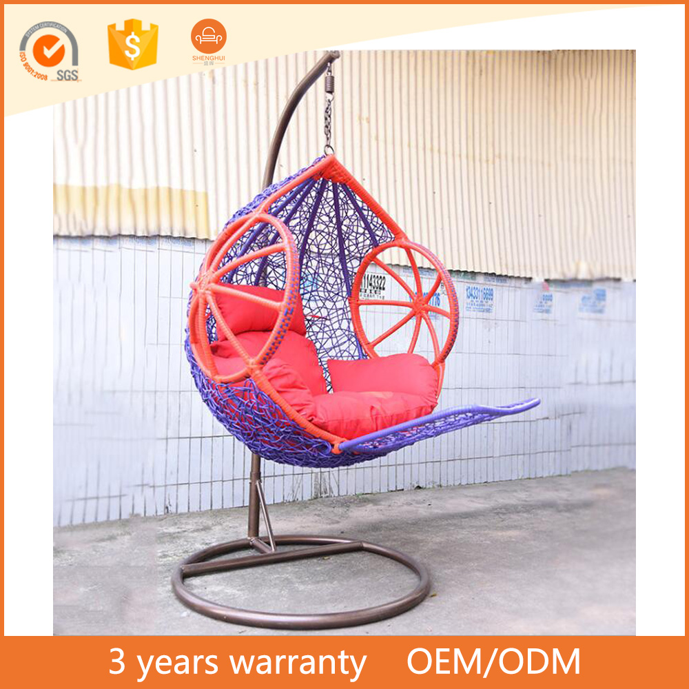 Metal frame outdoor bird's nest hanging basket hanging chair colorful garden swing buying furniture direct from manufacturer