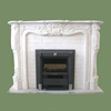 High Quality Hand Carved Western Design White Marble Fireplaces for Home