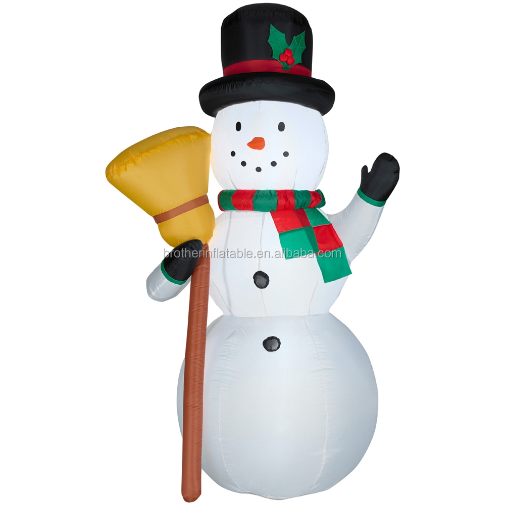 Decorative inflatable resin snowman,christmas inflatable snowman,cheap outdoor inflatable snowman