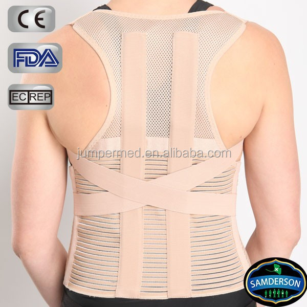 Round shoulder and scoliosis back brace posture corrector with Inserts