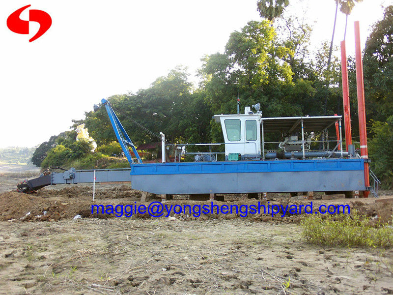 mini cutter suction dredger with water flow 500cubic meter per hour