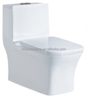 KZ-8059 siphonic dual flush rectangle one piece toilet
