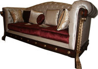 Wooden Baroque Touch Sofa
