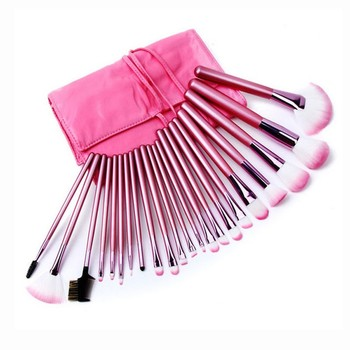 2018 professional 22pcs private label makeup brushes wood handle make up brush set