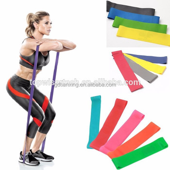 Yoga bands Exercise Durable Latex Resistance Loop Bands