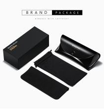 factory hot sale fashion custom logo leather sunglasses case with logo