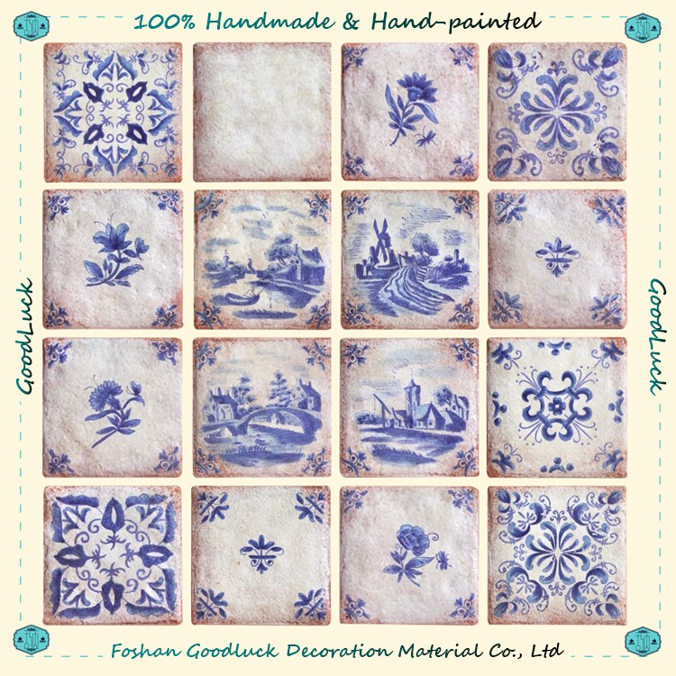 Customized Hand Crafted Made In Spain Ceramic Tile For Fireplace