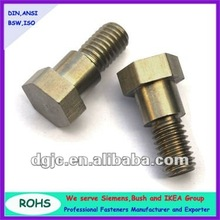 Brass metric Hex head machine screws with fine thread