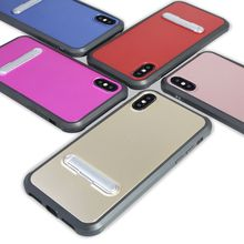 360 full protective tpu bumper pc back hybrid kickstand mobile phone case for iphone 6 7 8 x