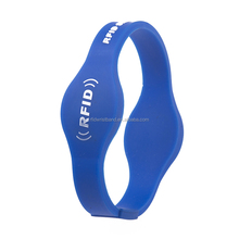 Waterproof dual-frequency double chips passive silicone nfc wristband