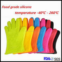 Heat Resistant Non-Stick Silicone Rubber Grilling Kitchen Thin Waterproof Microwave Oven Bbq Cooking Gloves Long
