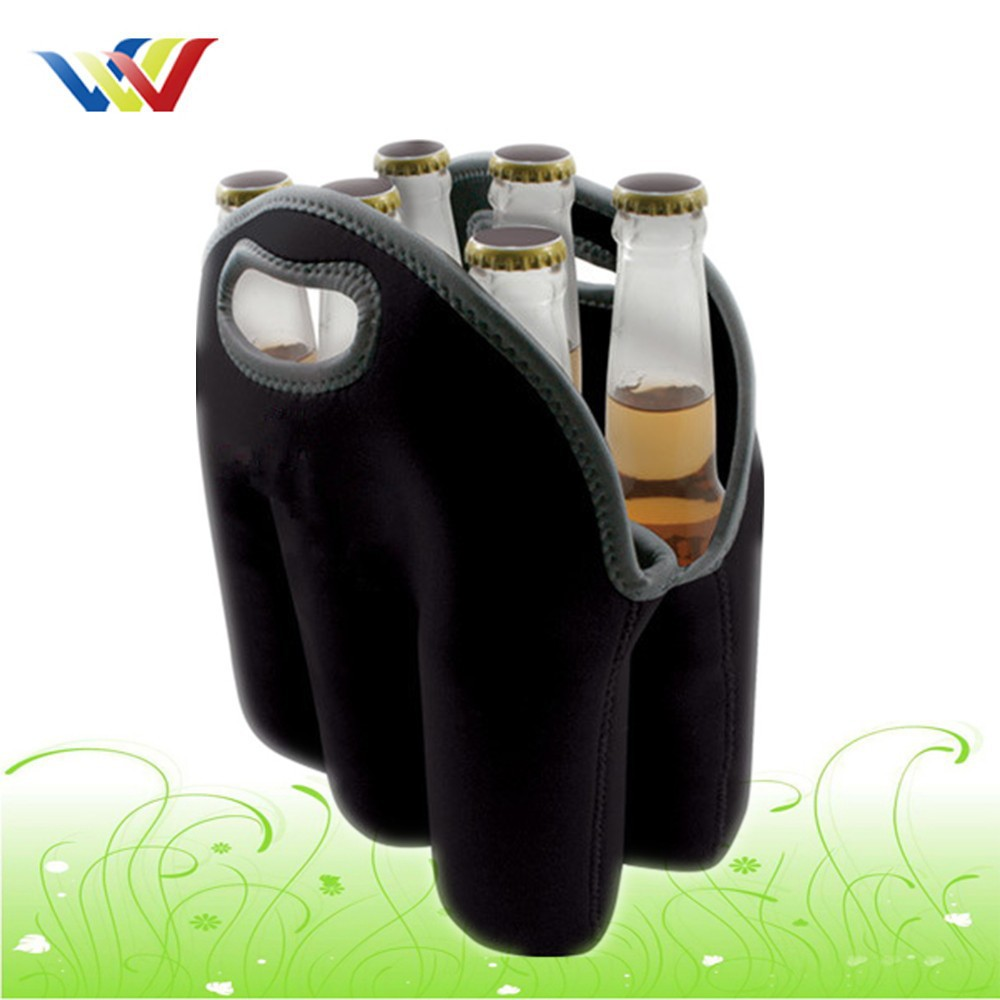 Neoprene 6 insulated beer cooler bag for beer bottle
