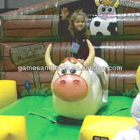 hot sale inflatable mechanical bull for kids A6040