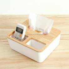 Hot sale Wooden desk organizer with tissue paper and iphone holder