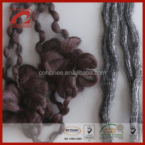 Topline fancy alpaca mohair wool super thick yarn for hand knitting