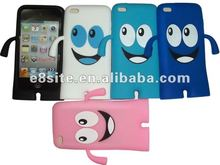 Smile Face Robot Silicone Cover Case For iPod Touch 4