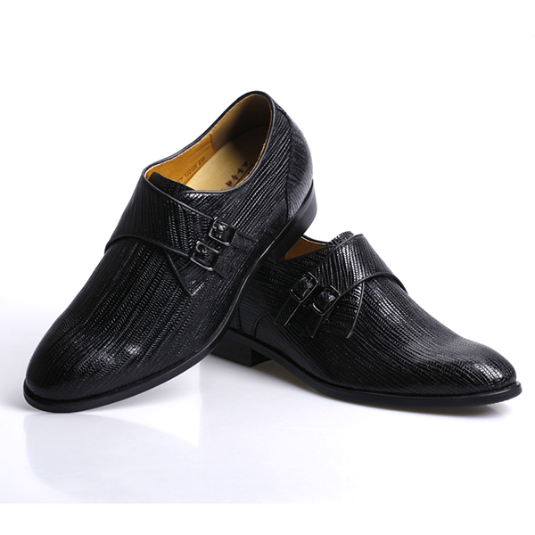 factory price black cow leather increasing shoes mens