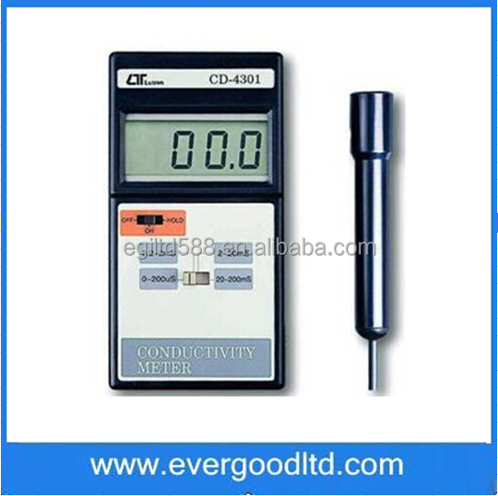 Measuring Range 199.9uS 1.999mS 19.99mS 199.99ms UTRON CD-4301 / CD4301 Conductivity Meter