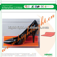 Orange Acrylic Slatwall Shoe Displays