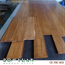 click-lock carbonized strand woven bamboo flooring