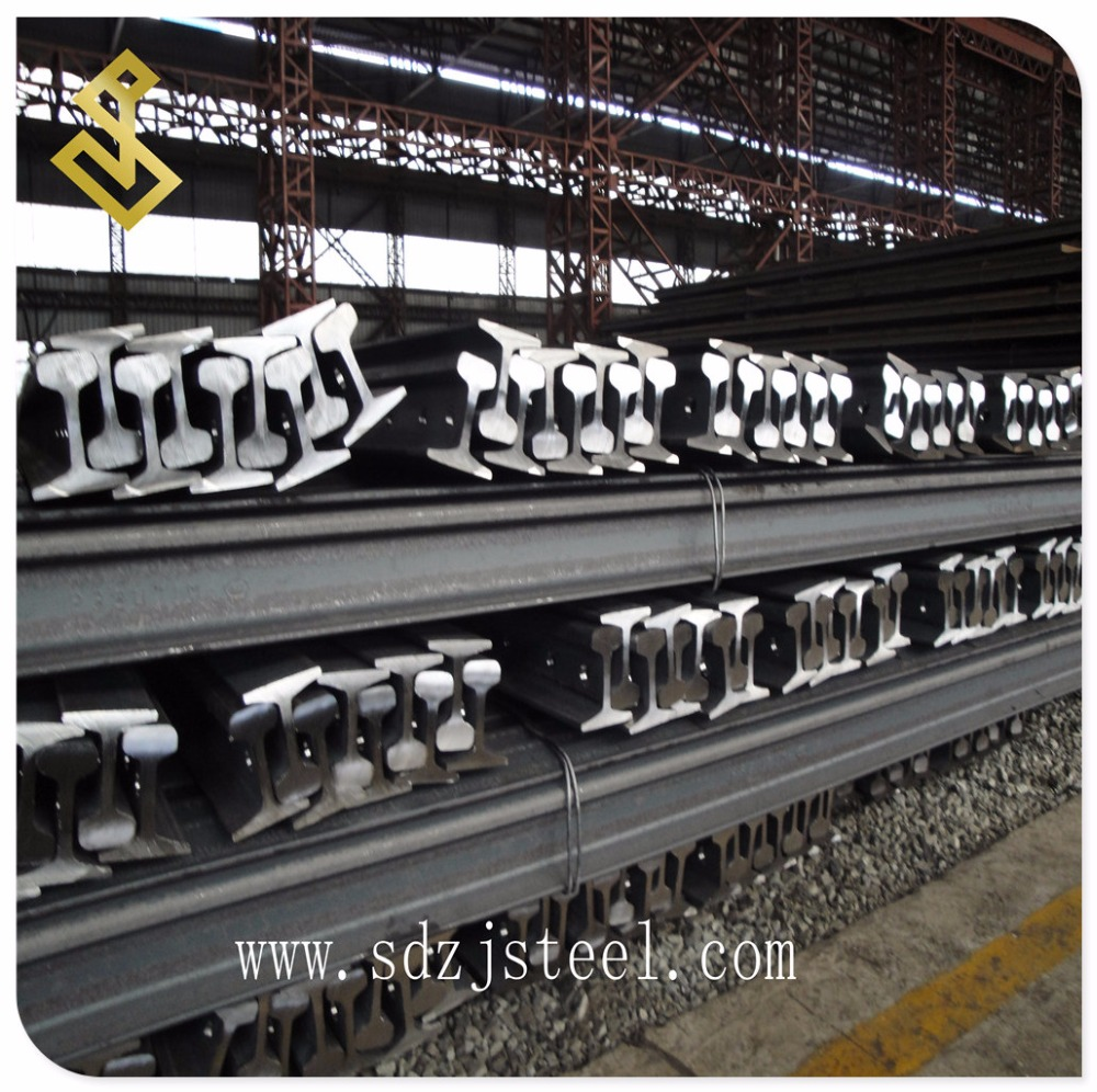 Track Railway Heavy Steel Crane Rail Standard UIC60 12 - 25m, Railroad 60E1 Steel Rail