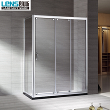 Popular polished finish aluminum corner shower enclosure 3 sliding panel glass aluminium corner shower enclosure