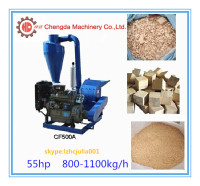Multifunctional small corn straw sawdust wood pellet hammer mill/ biomass wood chips hammer mill with cyclone