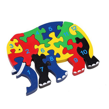 Hot sale Elephant CDN-1318 Animal Jigsaw Puzzle Colorful alphabet letters Puzzle Toys for Kids