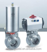 304 316 sanitary stainless steel butterfly valve actuator