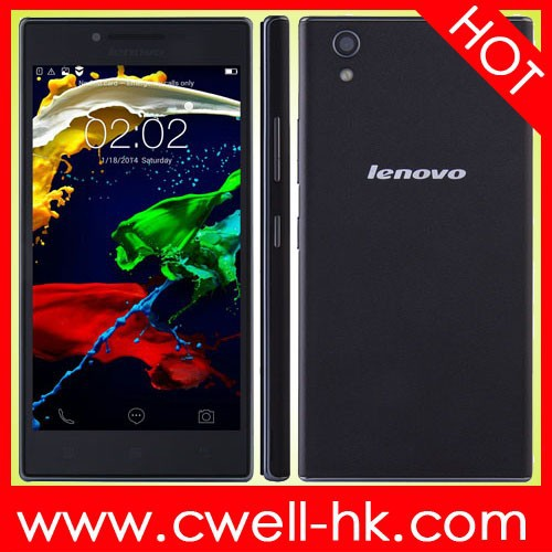 100% original Lenovo P70 Android 4.4 MTK6732 Quad Core Dual SIM Card mobile phone with 4000mah battery