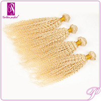 Kinky Curl 100% Remy Indian Blonde 20inch Human Hair Extensions