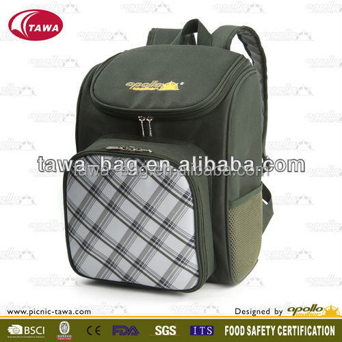 promotion 2 person thermos picnic bag with cooler compartment