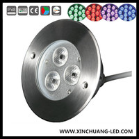 Low Voltage 3w Portable Underwater Swimming Pool Led Light/outdoor Waterproof Garden Recessed Flood Light For Decoration