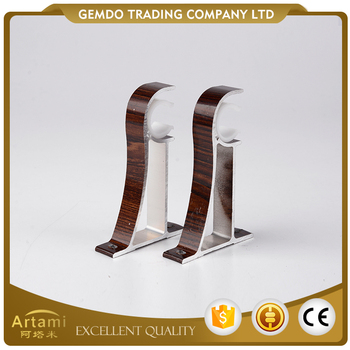 Top quality wholesale normal brown curtain rod ceiling brackets
