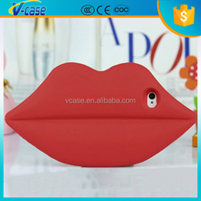 2015 fashion lovely lips shape silicone mobile phone cases for iphone 6