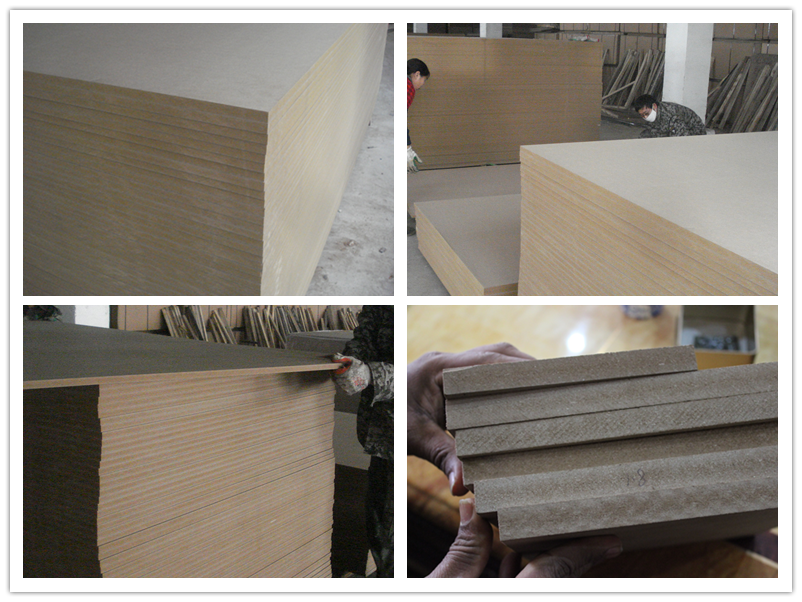 1220*2440mm waterproof raw MDF/Melamine MDF board