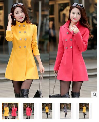 Winter Season military wool long coat